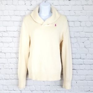 Ralph Lauren Sport Cream Cowl Neck Sweater, L NWT